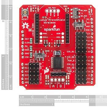 SparkFun Motor Sürücülü Xbee Shield - Ludus Protoshield Wireless