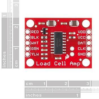 SparkFun Aðýrlýk Sensör Kuvvetlendirici - Load Cell Amplifier - HX711