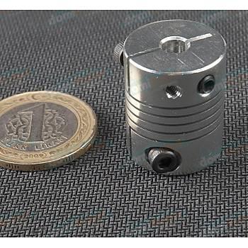 5mm / 5mm Vidalý Hassas Esnek Kaplin
