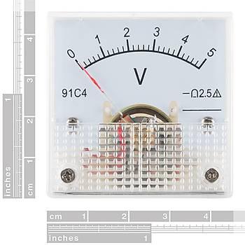 SparkFun Analog Voltmetre - 0 to 5 VDC