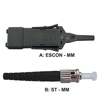 ESCON - ST MM 62,5/125 Duplex F/O Patchcord L:2.5m