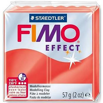 FIMO Effect Polimer Kil 56g - No.204 - Translucent Red