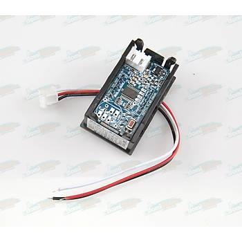 Dijital Panel Voltmetre H27V3 DC 0-30V - 3 Tell - Yeþil