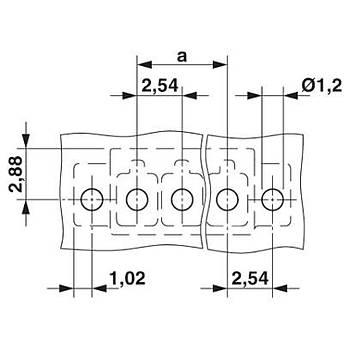 Baskýlý devre kart konnektörü MCV 2,54 P20