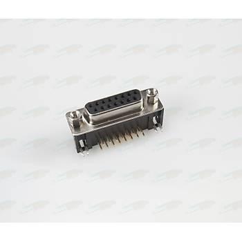 Rs232 15 Pin 90C Diþi Seri Port Konnektörü (PCB Tip)