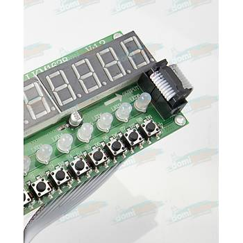 8 Karakter 8 Buton RGB Display LKM1638 - Kablo Dahil