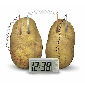 Patates ve Limon Suyu ile Çalýþan LED Alarmli Saat Seti