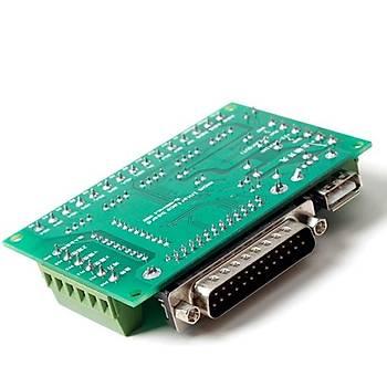 Mach3 5 Eksenli CNC Step Motor Sürücü Kartý + USB Kablo