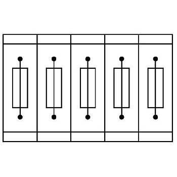 Sigortalý modüler klemens - ST 4-HESI (5X20)
