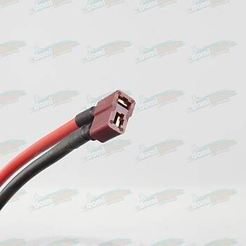 T Plug Dişi Lipo Pil Şarj Kablosu 12AWG L:15cm