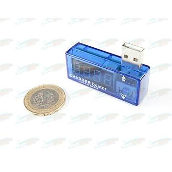 Dijital USB Mobil Güç (Voltaj ve Akým) Test Cihazý - USB Cihaz Doktoru