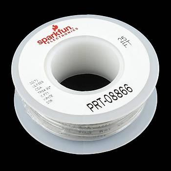 SparkFun Çok Damarlý Montaj Kablosu 7,5m(25ft) -22AWG Beyaz
