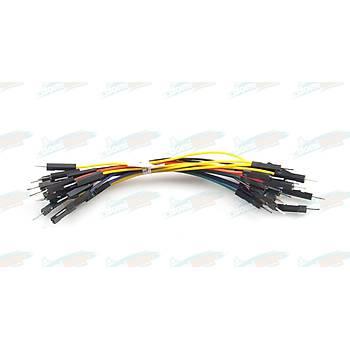 Erkek - Erkek Renkli Esnek Jumper Kablosu L:10cm (20adet)