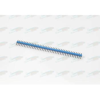 1x40 2.54mm h:12mm Erkek Pin Header - Mavi