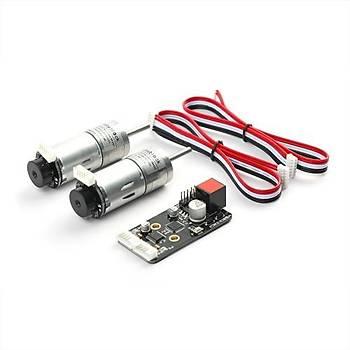 MakeBlock Optical Encoderli Redüktörlü Motor Paketi - 25mm 9V/185RPM 1:46
