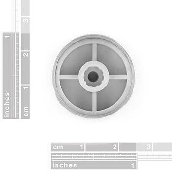 Potansiyometre Düðmesi - Silver Metal - 14x24mm
