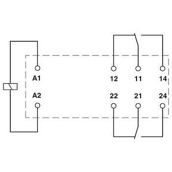 Tek röle - REL-MR- 24DC/21-21