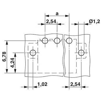 Baskýlý devre kart konnektörü MC 2,54 P20