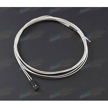 NTC 100K %1 Hassasiyetli Termistör ( Kablo+2Pin 2.54mm Sonlu)