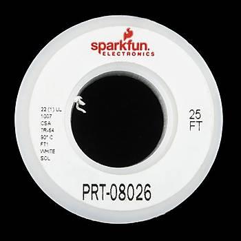 SparkFun Tek Damar Montaj Kablosu 7,5m(25ft) -22AWG Beyaz