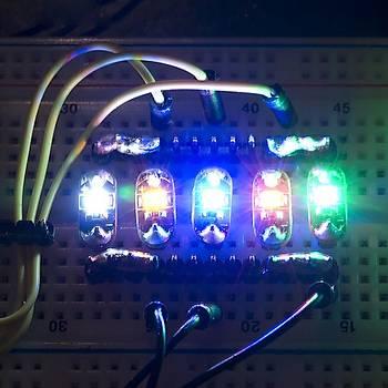 LilyPad LED Kýrmýzý (5adet)