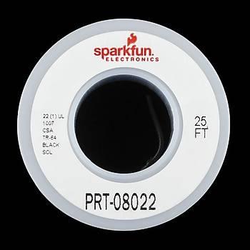 SparkFun Tek Tel Montaj Kablosu 7,5m(25ft) -22AWG Siyah