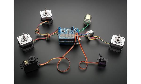 Motor/Stepper/Servo Driver Shield Geniþleme Kartý -Arduino Uyumlu-