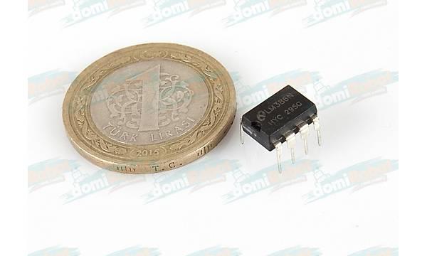 LM386N Düþük Voltaj Audio Güç Amplifikatör Entegresi