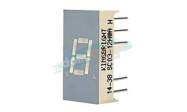 10.16mm KIRMIZI 1-Digit LED Display (Anot)