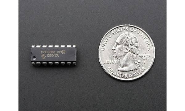 MCP3004 I/P - 2.7V 4-Channel 10-Bit A/D Converters with SPI Serial Interface