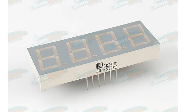 4 Digit 14.2mm YEÞÝL LED Display (Katod)