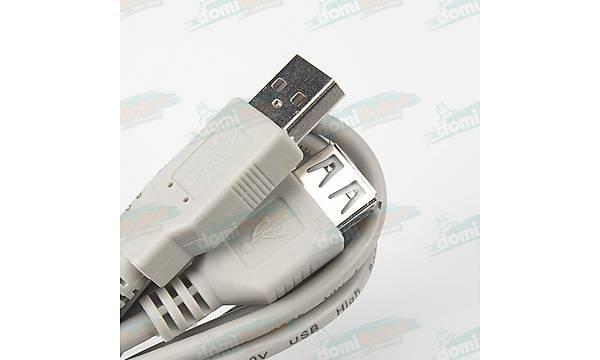 USB A Erkek - Diþi USB Uzatma Kablosu L:1.5m
