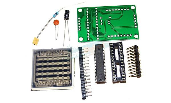 8x8 Matrix LED Display ve MAX7219 Modül (Montajsýz)