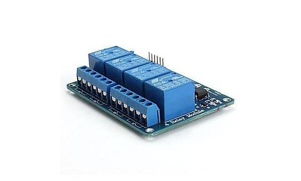 4 Kanal LED Göstergeli Opto-izalasyonlu 5V Röle Kartý