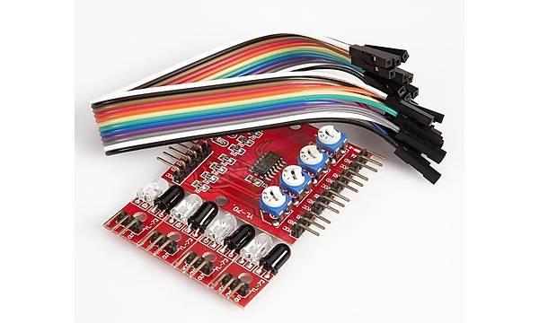 4lü Çizgi Ýzleyen Sensör Modül Seti