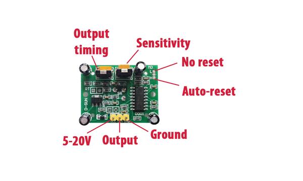 HC-SR501 PIR - Ýnsan Hareket Algýlama Sensörü