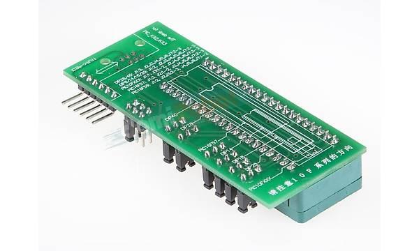 PICKit ICSP/PICKit2/PICKit3 ile kullanmak için 40Pin ZIF Soket Kartý