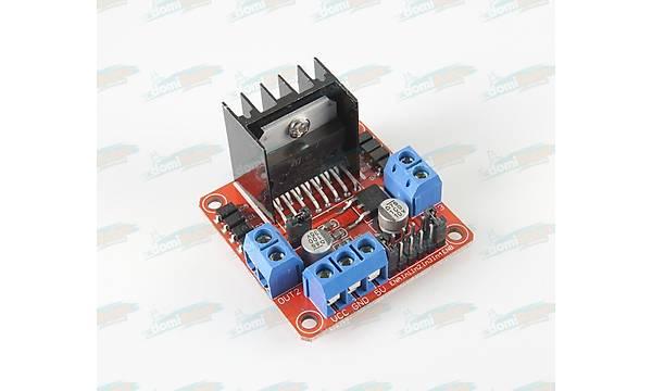 L298N Voltaj Regülatörlü Çift Motor Sürücü Modülü