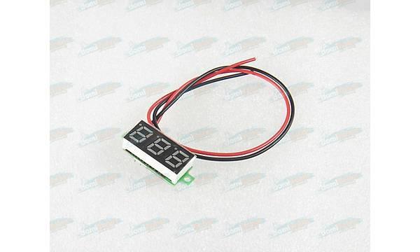 Voltmetre DC 0.28inc 3.5-30V - MAVÝ - 2 Telli