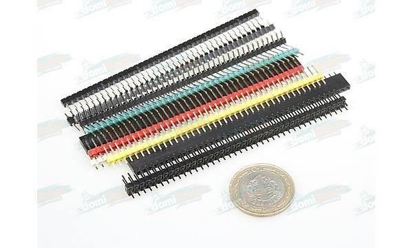1x40 2.54mm h:12mm Erkek Pin Header - Kýrmýzý