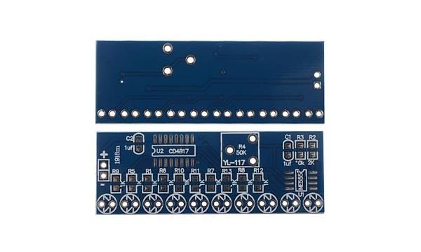 NE555 + CD4017 Kayan Iþýklý LED Modül