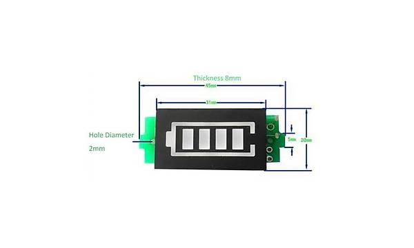 1s Lityum Batarya Kapasite Gösterge Modülü
