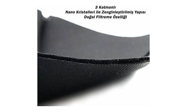 Nano Safe 3 Katlý Kýrmýzý Maske (Yýkanabilir)