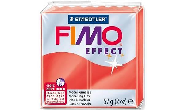 FIMO Effect Polimer Kil 56g - No.204 - Translucent Red
