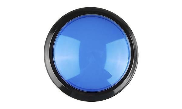Big Dome Pushbutton - Blue