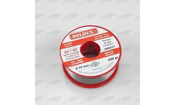 0.75mm 200 gr Soldex Lehim Teli