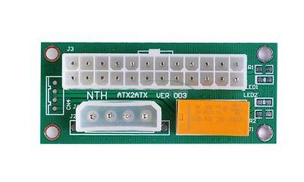 Add2PSU ATX - SATA Molex 24 Pin Güç Kaynaðý Baðlantý Adaptörü (Turucu)