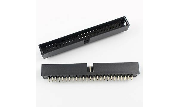 2x25 Pin Shrouded Box Header  2.54mm Male