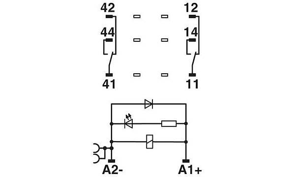 Röle Modülü - RIF-2-RPT-LDP-24DC/2X21