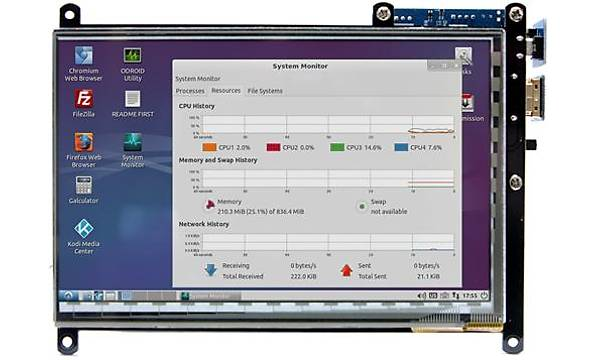 ODROID-VU7 Plus: 7inch 1024 x 600 HDMI Display With Multi-Touch